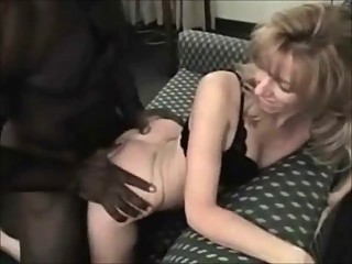 Petite blonde wife loves her muscular black stud