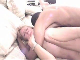 Cuckold older couple share black amateur cock